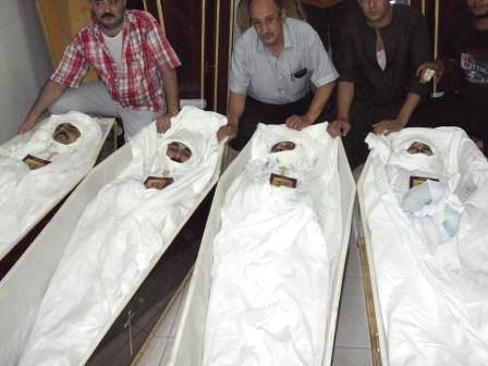 Violence in the town of al-Dabayia on July 5 claimed the lives of Rasim Taodharos Ocaldius, 56; Mharib Noshi Habib,38; Romany Noshi Habib, 33; and Emile Naseem Sarofim, 41.