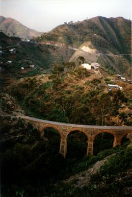 A railway bridge in remote Eritrea.