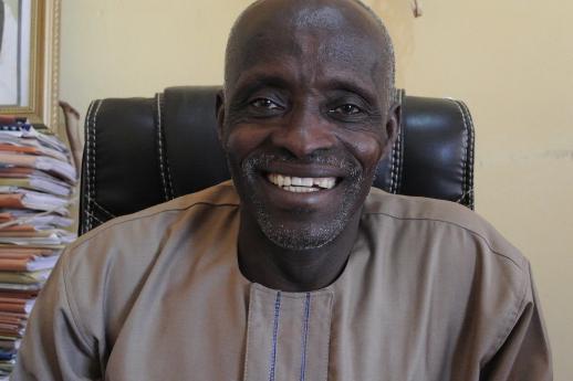 Rev. Samuel Dali, president of the Church of the Brethren in Nigeria, known locally as Ekklesiyar Yan'uwa a Nigeria -- or EYN Church.