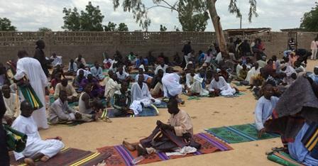 Internally displaced persons in Maiduguri, Borno State. October 2014