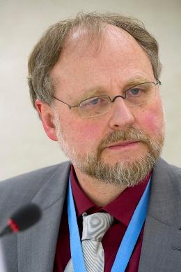 Heiner Bielefeldt, the UN's Special Rapporteur on Freedom of Religion and Belief, in Geneva, 2013.