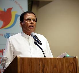 The Sri Lankan President, Maithripala Sirisena.