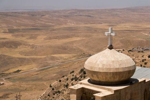St. Matthew's monastery falls halfway between Mosul and Iraq's Kurdistan.