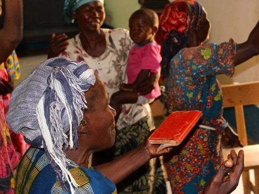 Women meeting at a self-help group, Bangui 2016.