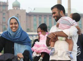 A Muslim family in Malaysia's capital, Kuala Lumpur. (Photo: Open Doors International)