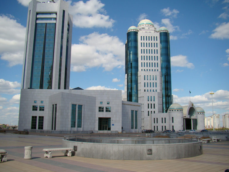 Kazakhstan's Parliament building in the capital Astana. (Photo: World Watch Monitor)