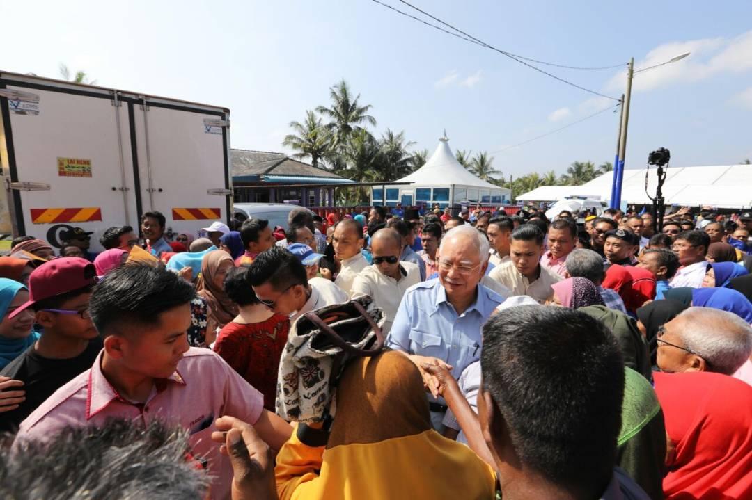 Najib Razak on the election trail