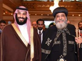 Saudi Crown Prince makes 'unprecedented' visit to Coptic Pope
