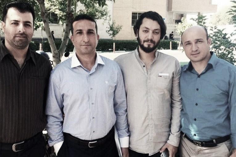 From left: Saheb Fadaie, Youcef Nadarkhani, Yasser Mossayebzadeh and Mohammad Reza Omidi