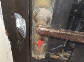 e key hole of a closed down church in Algeria is sealed with wax. (Photo: World Watch Monitor)